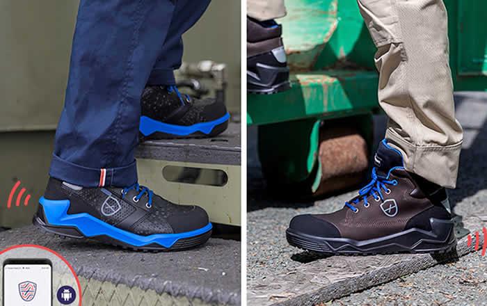 calzado de seguridad inteligente que notifica caídas y accidentes
