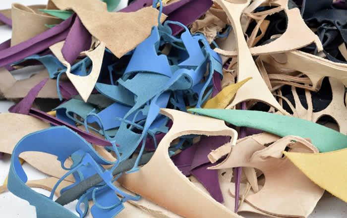 Material de cuero reciclado