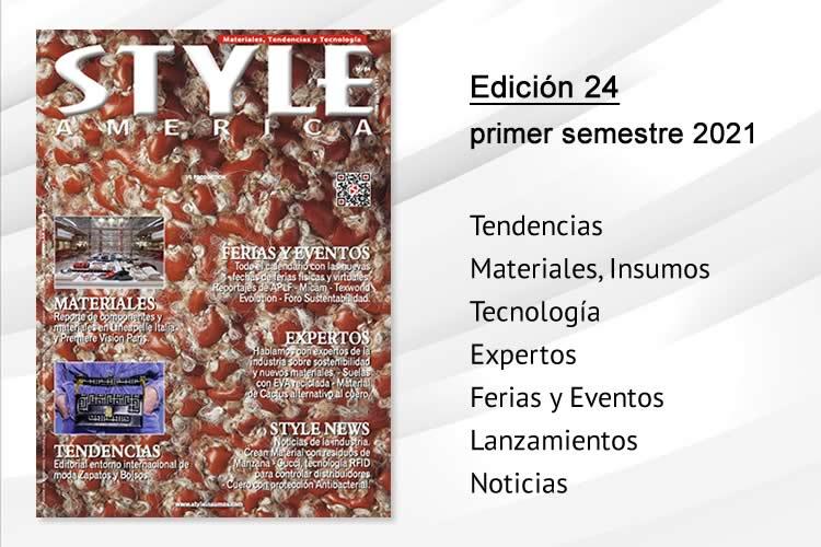 Edición primer semestre 2021 Style América materiales, tendencias y tecnología