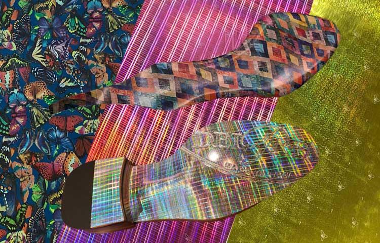 laminas de cuero para suelas con acabados de moda